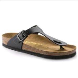 Birkenstock's Gizeh Boho Black Leather Sandals
